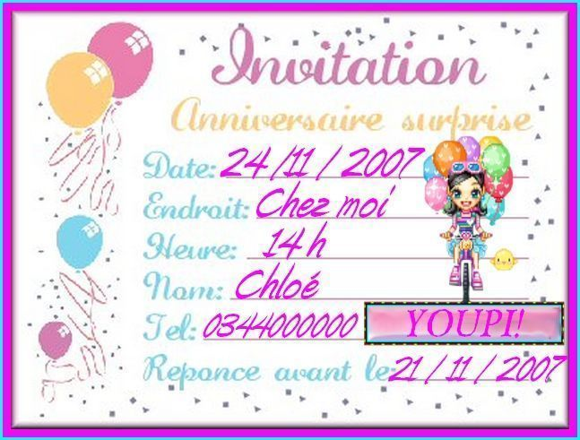 Top maxalae: Carte invitation anniversaire cartes invitation anniversaire SQ73